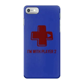 i'm with player 2 video game gamer computer geek nerd funny tee shirt iPhone 7 Case