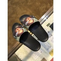 LV Louis Vuitton Supreme Men's Leather Fashion Sandals