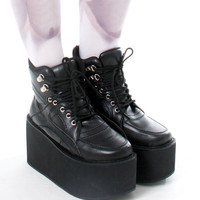 Japan Harajuku Cyber Space Punk Muscle Chunky Platform Hi Top Ankle Sneaker Boot