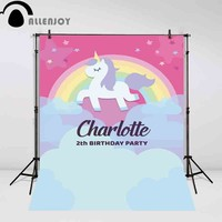 Allenjoy backgrounds for photo studio lovely Unicorn backdrop Rainbow Birthday Party Custom photography Background for photo
