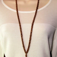 Lanyard - Handcrafted Byzantine Chain - Antique Copper