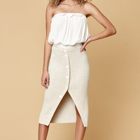 MinkPink Natural Neck Knit Midi Skirt at PacSun.com
