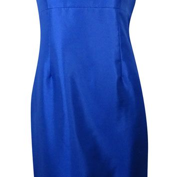 Kasper Women's Shimmer Beaded Neckline Sheath Dress