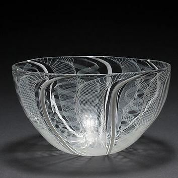 Lace Work Bowl by Carrie Battista and Patrick Frost: Art Glass Bowl - Artful Home