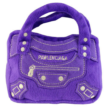 Pawlenciaga Designer Purse Parody Plush Dog Toy