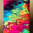 Abstract Art Prints 11x14 Contemporary  Modern Art by Destiny Womack - dWo - Filled with Joy