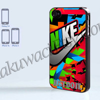 Nike Just Do It Colorfull - iPhone 4 case - iPhone 4S case - Samsung Galaxy S3/S4 - iPhone case - Hard Plastic - Case Soft Rubber Case
