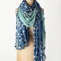 Anthropologie - Tri-Tone Pom Scarf