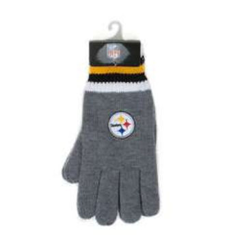 NFL Pittsburgh Steelers Thermal Gloves [Men's - One Size - Gray]
