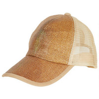 Natural Straw Baseball Hat