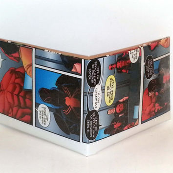 Comic Book Wallet// Thunderbolts// Red Hulk, Venom, Punisher, and Deadpool