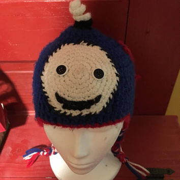 Thomas the tank hat, Thomas the tank beanie hat, boys winter hat, ear flap hat