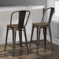 Bar Counter Stools Set Kitchen Dining Chairs Bistro