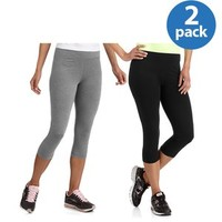 Walmart: Danskin Now Women's Dri-More Cropped Leggings, 2-Pack Value Bundle
