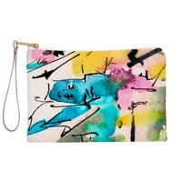 Ginette Fine Art Blue Man Abstract Expressive Pouch