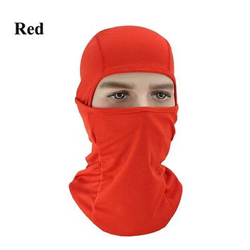RED Winter Outdoor Ski Bibs Snowboard Skiing Full Face Mask Cycling Sport Headgear Tactical Paintball Cap Hat Snowbile Balaclava
