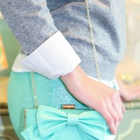 All The Bows & Whistles Bag-Mint