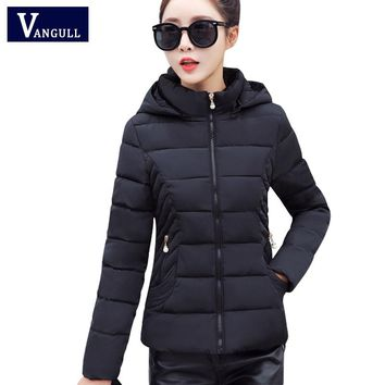 Women winter hooded jacket and coat woman cotton padded parka short wadded overcoat casaco feminino abrigos mujer Invierno
