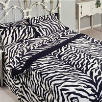 Black/White Zebra Print Bed-In-A-Bag