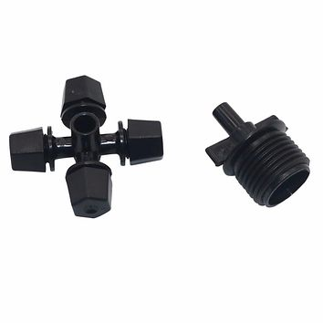 20 Pcs Cross Fogger Misting sprayer with 1/2'' thread Connector water spray misting system Greenhouse irrigation Dust nozzle