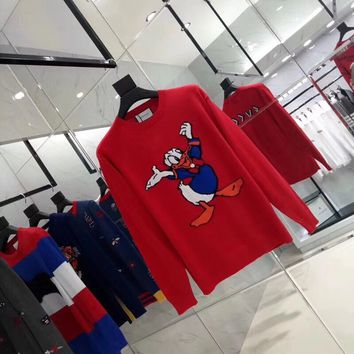 Gucci Donald Duck Red Sweater 028
