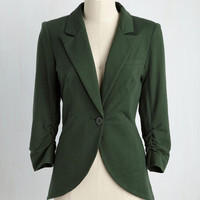 Fine and Sandy Blazer in Basil | Mod Retro Vintage Jackets | ModCloth.com