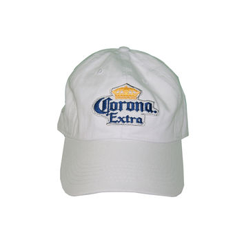 Vintage Culture Corona Extra Patched Dad Hat In White