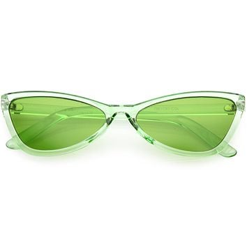 Retro Small Triangle Transparent Color Tone Lens Cat Eye Sunglasses C727