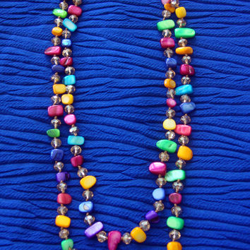 Multi-Color Stone Necklace