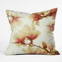 Shannon Clark Sheer Magnolias Throw Pillow