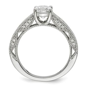 Sterling Silver And CZ Brilliant Embers Ring