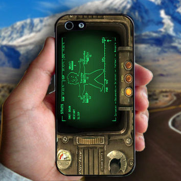 Fallout Pipboy Rainmeter - Print on hard plastic case for iPhone case. Select an option