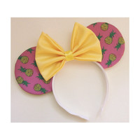 Pink Pinapples Mouse Ears