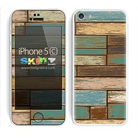 Aged Color Wood Planks V7 Skin For The iPhone 5c
