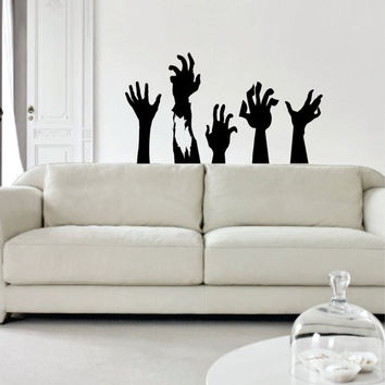 Zombie Hands Design Decal Sticker Wall Vinyl Art Home Room Decor