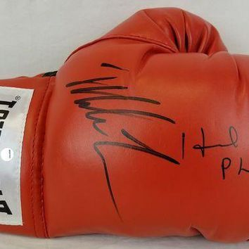 ONETOW Mike Tyson & Evander Holyfield Signed Autographed Everlast Boxing Glove (PSA/DNA COA)