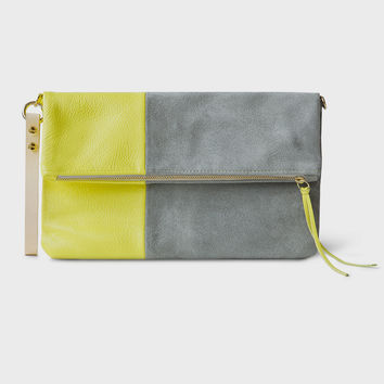 Chloe Leather & Suede Foldover Clutch