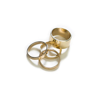 PACK OF FOUR RINGS IN DIFFERENT SIZES - Jewellery - Accessories - Woman | ZARA United States