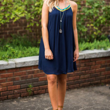 Running To You Dress, Navy
