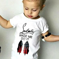 Baby Girls Louboutin Made Me Do It T-Shirt