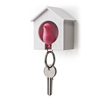 Qualy sparrow key ring & holder pink - Live Like The Boy