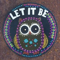 "Natural Life Owl Motif ""Let It Be"" Car Magnet"