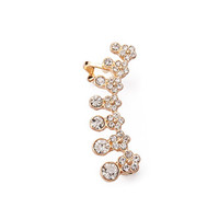 Rhinestone Flower Ear Cuff