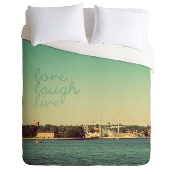 Happee Monkee Love Laugh Live Stockholm Duvet Cover