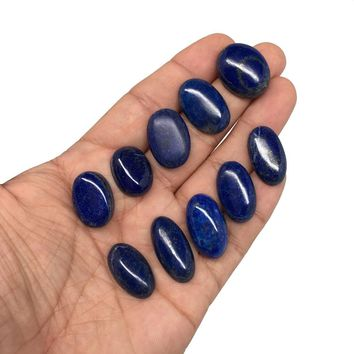 169.5 cts, 10 pcs,Natural Oval Shape Lapis Lazuli Cabochons @Afghanistan, Lot106
