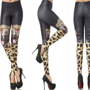 Womens Sexy Cheetah Print Fit Leggings