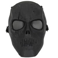 Black Color Gun Full Face Game Protection Skull Skeleton Army Airsoft Paintball BB Safe Mask