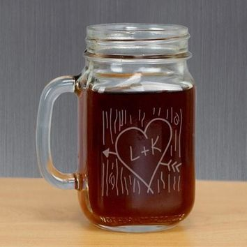 Personalized ME+U Mason Glass Jar