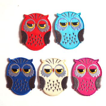 Owl/ Purple/ Iron on Patch/ Etsy/ Patches/ Applique/Embroidery/ Kids