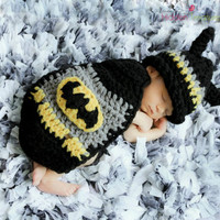 Newborn Batman Hooded Cape Photography Prop